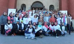 مشاركة طالبات كلية رياض الأطفال بماراثون طلاب جامعة الاسكندرية